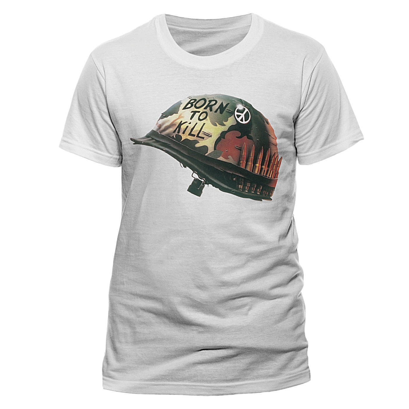 Official Full Metal Jacket Helmet T Shirt NEW Medium Classic Stanley <font><b>Kubrick</b></font> Cool Casual pride t shirt men Unisex New Fashion image