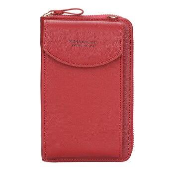 wallet women Diagonal PU multifunctional mobile phone clutch bag Ladies purse large capacity travel card holder passport cover 10