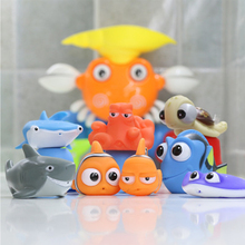 Bath-Toys Rubber Finding Nemo Play-Animals Water-Squeeze Baby Children Float-Spray Funny