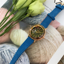 hot selling dress quartz watch for ladies leather band watch