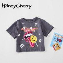 Summer Kids T Shirt Boys And Girls Fashion Short Sleeve T-shirt Cartoon Print Top baby girl cloth girls cartoon and letter print top