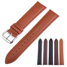 Unisex Solid Color Faux Leather Pin Buckle Watch Strap Belt Wristband Watchband(China)