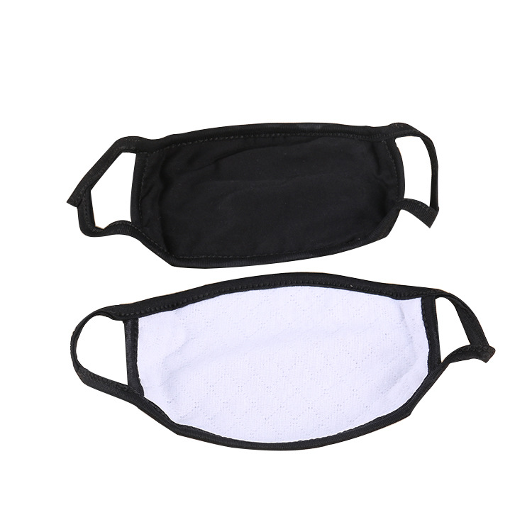 Unisex Simple Black Masks Comfortable Soft Cotton Mouth Masks Anti-Dust Warm Mouth Face Mask Reusable Mask High Quality 1pc