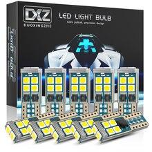 Dxz 10 pces t10 lâmpadas led w5w 10-smd canbus 168 194 6000k 12v branco interior do carro dome luz luzes de folga erro livre lâmpada automóvel