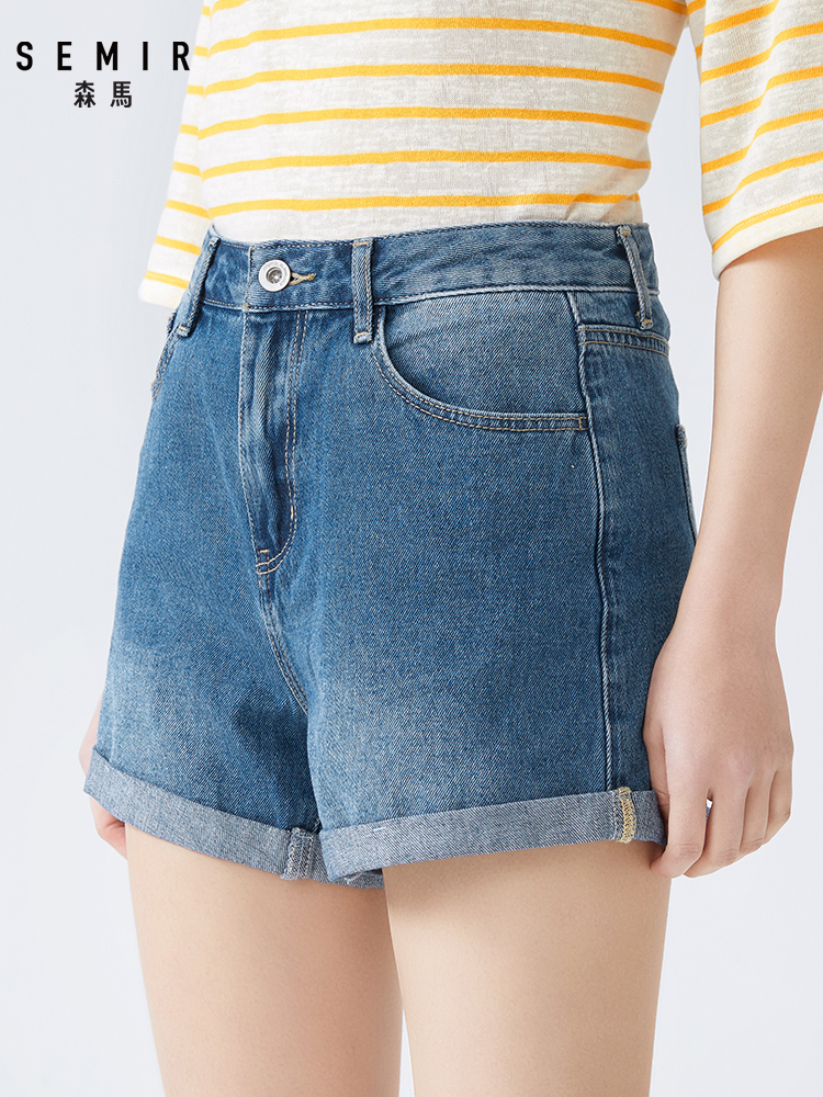 Semir 2020 Summer New Denim Shorts Female Thin Word Ins Trend Hot Shorts Cotton Comfortable Breathable Shorts