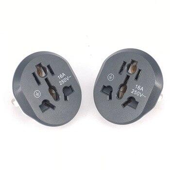 1PCS Universal EU KR Plug Adapter AC 250V 16A EU Converter 2 Round Pin Socket Suitable For US UA UK To EU Plug For Traveling 1