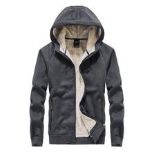 2019 ฤดูหนาวหนา lambskin กำมะหยี่ hooded Sweatshirts casual men แจ็คเก็ตอุ่นเสื้อ hoodies streetwear one piece plus ขนาด L 8XL