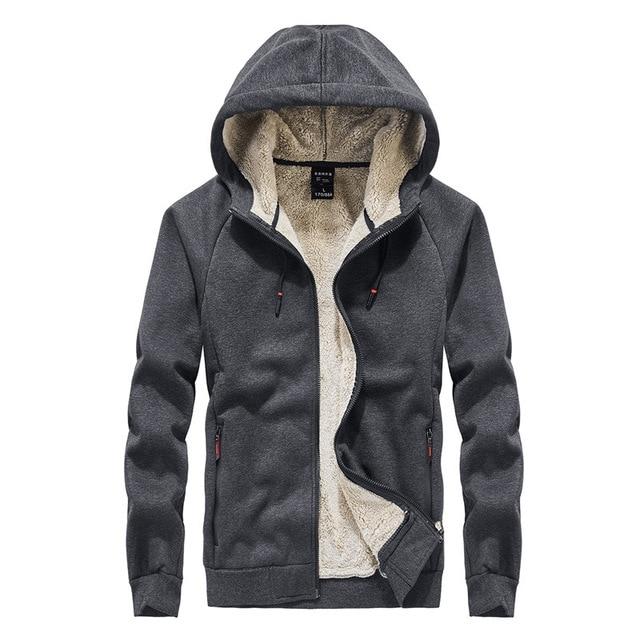 2019 winter thick lambskin velvet hooded Sweatshirts casual men warm jackets coats hoodies streetwear one piece plus size L 8XL
