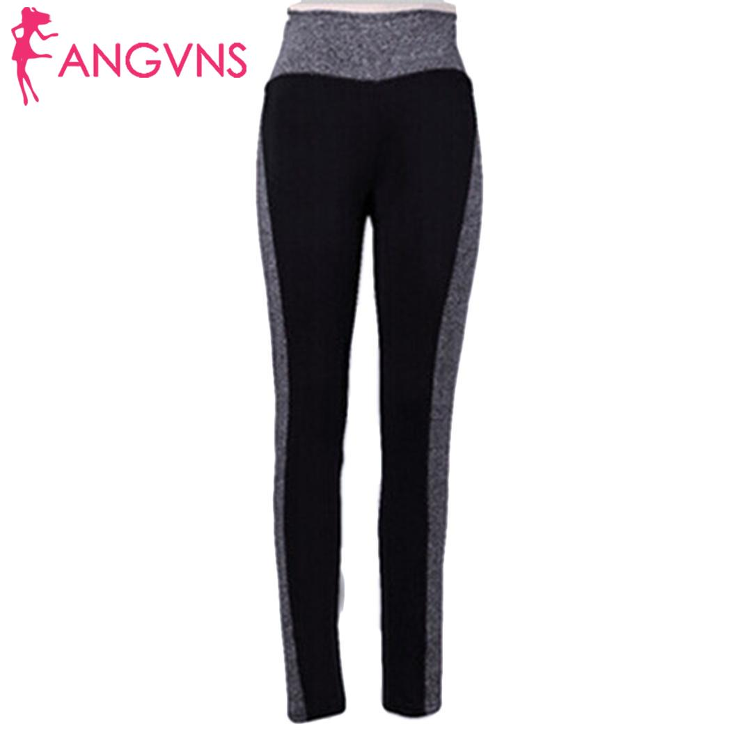 New Fashion Women Yoga Fitness Running All seasons Gym Stretch Sports Pants Trousers Leggings Casual Patchwork