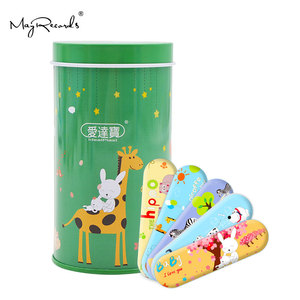 Image 5 - Free Shipping 50PCs Cartoon PE Waterproof Animals Style Adhesive Bandages Band Aid First Aid For Kids Children