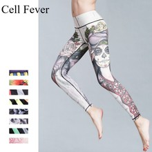 Print Yoga Pants Women Fitness Gym Leggings Workout Sports Running Leggings Sexy Push Up Gym Wear Elastic Tight Slim Pants цены онлайн