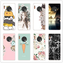 Phone Case For Huawei Mate30 Mate 30 Soft Silicone TPU Cute Animal Painted Back Cover For Huawei Mate 30 Phone shell(China)