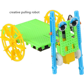 creative pulling robot student puzzle electronic student  physics electronic technology small production pulse production technology