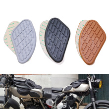Motorcycle Fuel Tank Knee Pads Protector Stickers Side Panels Decal For Harley Honda Yamaha Cafe Racer Vintage Tank Traction Pad