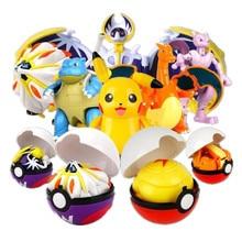 8 New Styles Pokeball Elf Pet Deformation Set Golfer High Quality Pikachu Toys Spitfire Dragon Little Super Dream Pokemon Toy