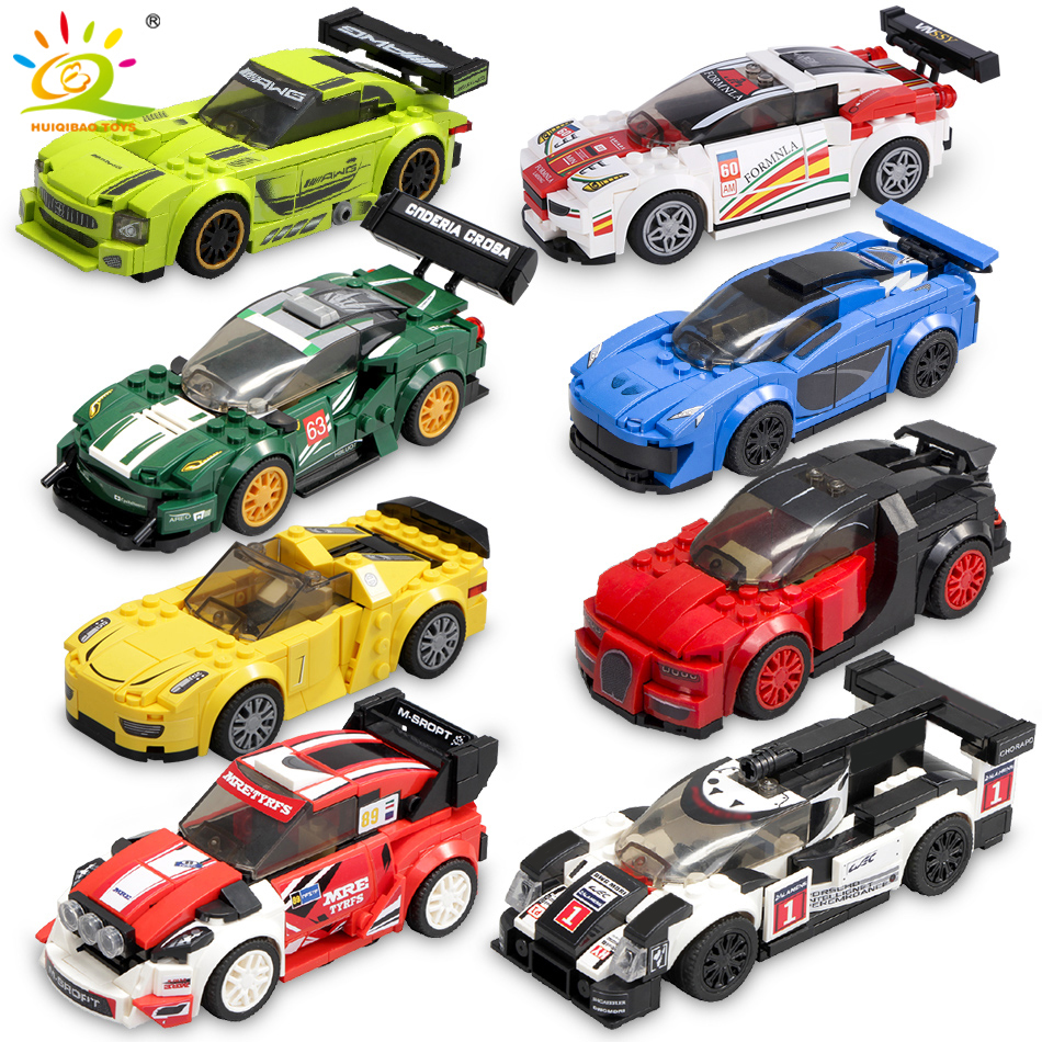 Speed Champions Super Racers Figures Building Blocks Legoingly Racing Sport Car City Bricks Construction Toys Gift For Children