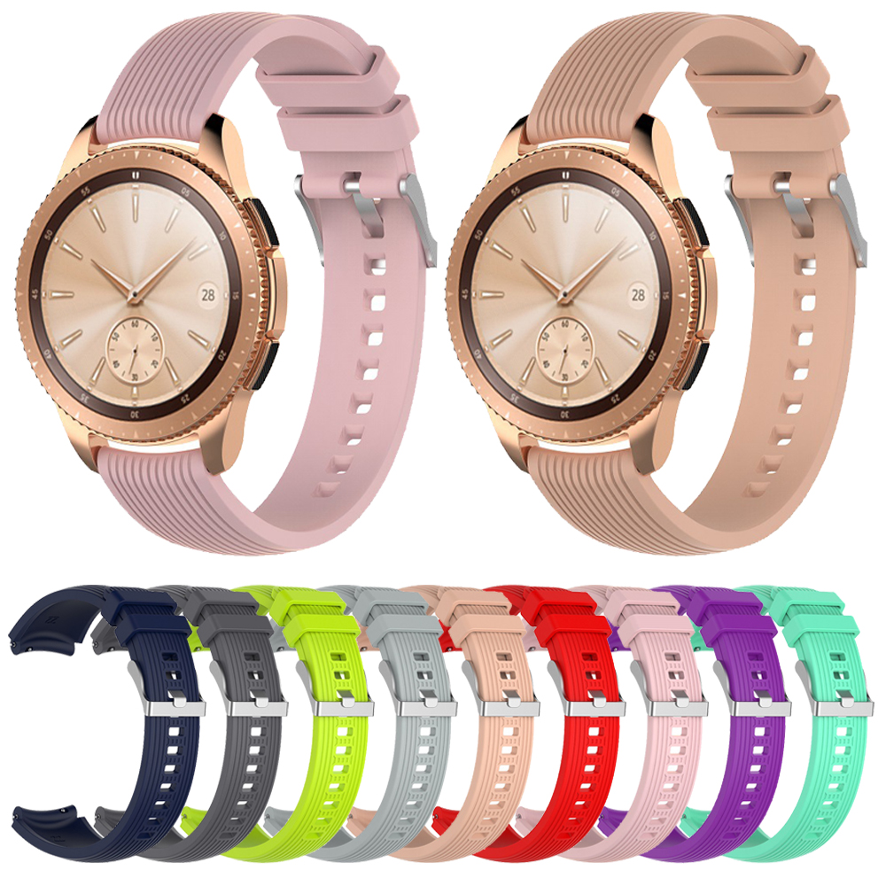 Silicone Strap For Samsung Galaxy 46mm 42mm/Active/Gear S3 S2 Classic 22mm 20mm Band For Amazfit GTR/Bip Huawei Watch 2 Bracelet