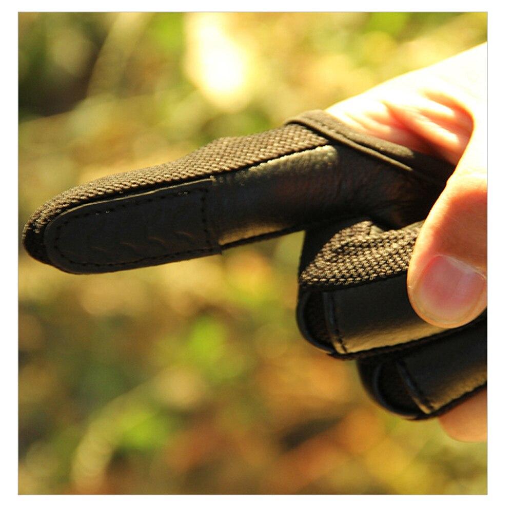 Dobrej jakości nowy 3 palec rękawiczki skórzane w kolorze czarnym wysokiej elastyczna ochrona rąk rękawice łucznictwo rękawice ochronne dla polowanie strzelanie