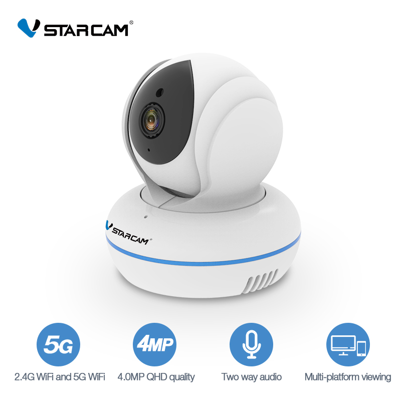 Vstarcam C22Q 4MP Two-Way Audio Wireless 2.4G/5G WiFi 1080P IP Camera Night Vision Surveillance Motion Detection Baby Monitor