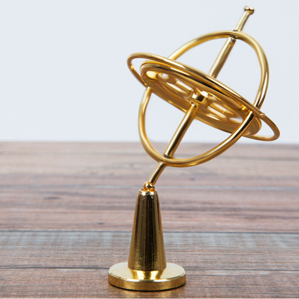 Creative Children Scientific Educational Metal Gyroscope Gyro Top Pressure Relieve Classic Toy Learning Toy For Kids