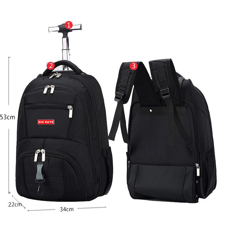 Hot Sale Men's Travel Bag Man Backpack Polyester Bags Waterproof Computer Packsack Brand Design Backpacks Trolley Backpack
