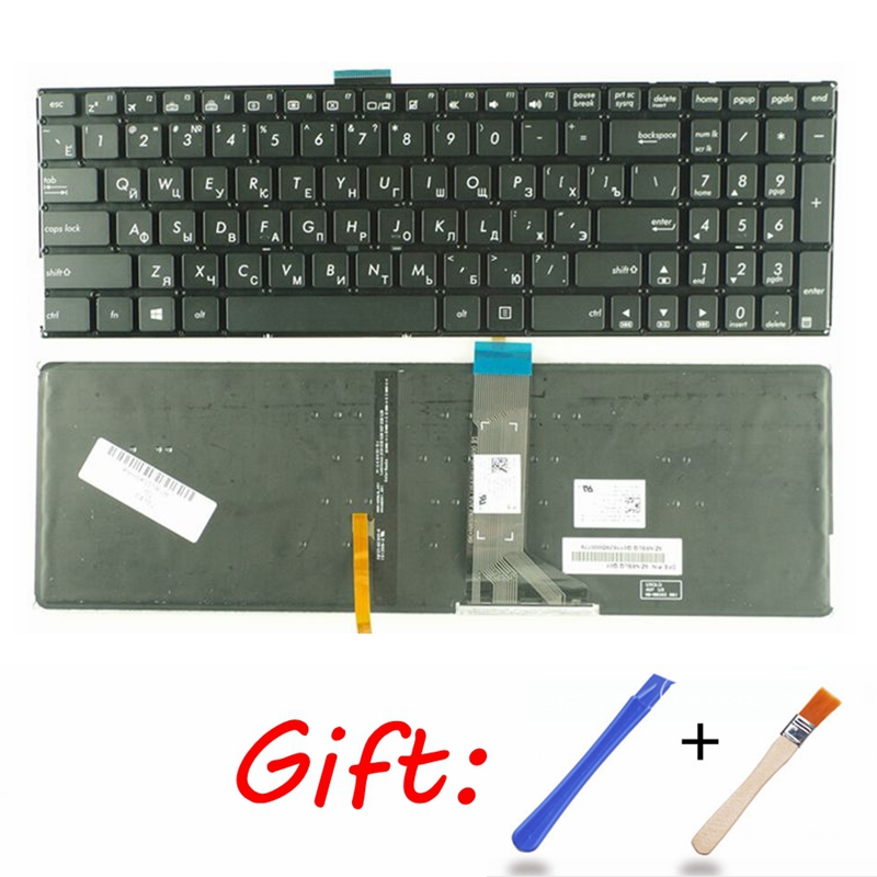 Russian Laptop Keyboard for <font><b>ASUS</b></font> K501 K501U K501UB K501UQ K501UW <font><b>K501UX</b></font> K501L K501LB K501LX A501L A501LB A501LX RU backlight image