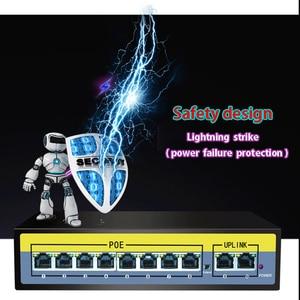 Image 3 - POE Gigabit switch 52V  5/6/8/10/11/16/24 port POE Switch for IP camera 250 meters lightning protection Internal Power Supply