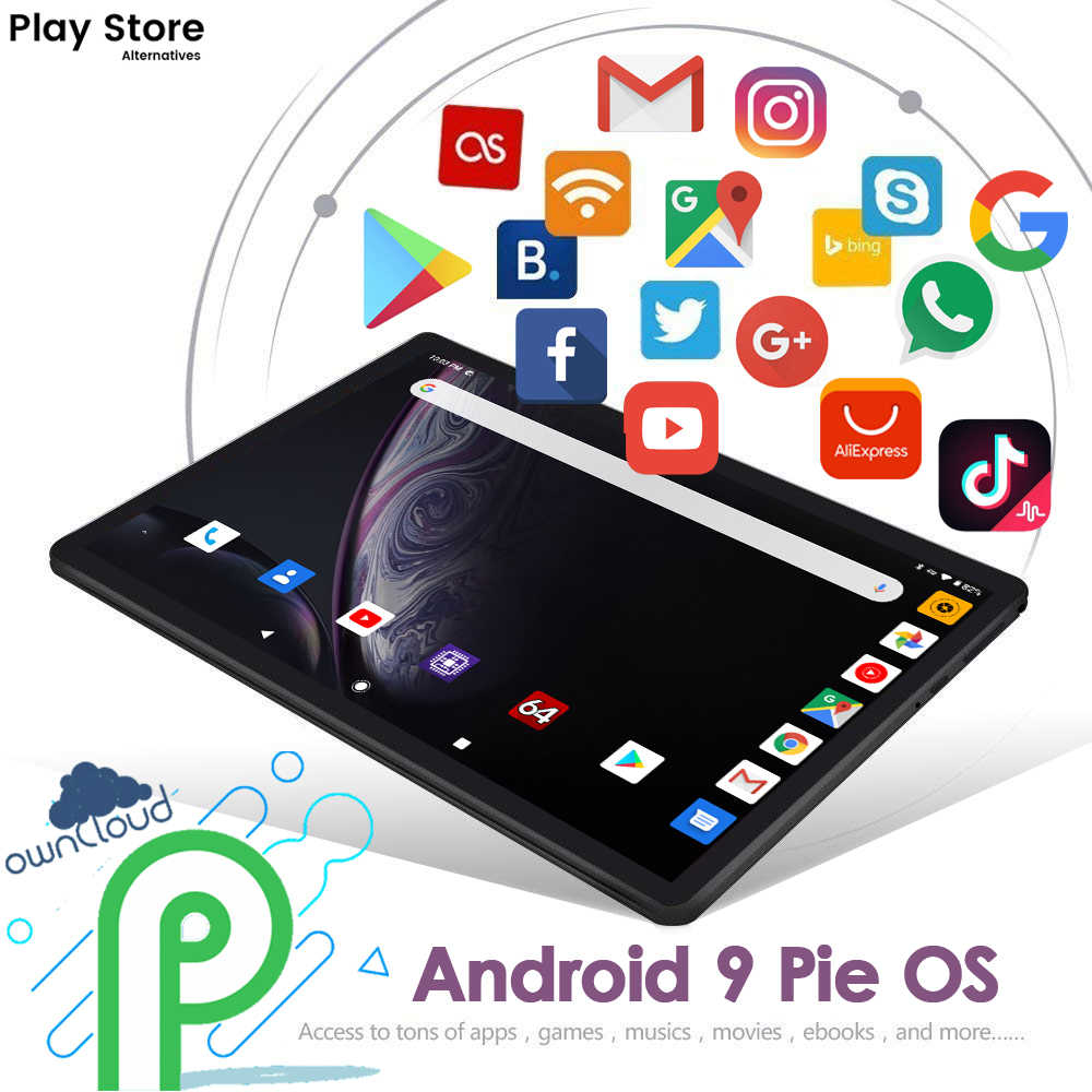 2020 Hot Nieuwe 10 Inch Tablet Pc 8 Cores Dual Sim 4G Lte 6Gb + 32Gb Rom android 9.0 5G Wifi Bluetooth Gps Type-C Tabletten
