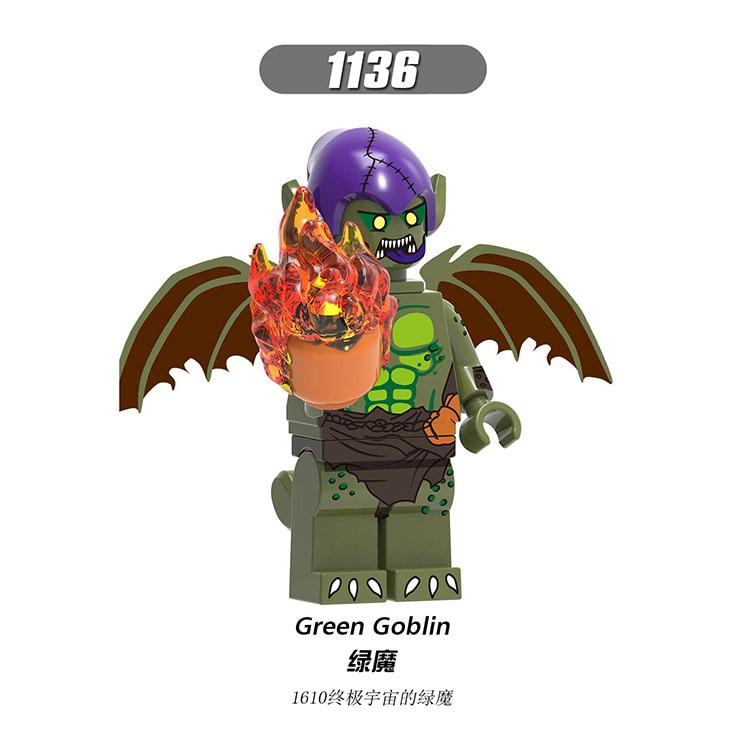 Super Heroes Taskmaster Green Goblin Kingpin Scorpion  Miles Morales  Superheros Blocks Toys
