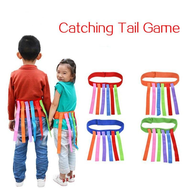 Dzieci zabawna gra na zewnątrz łapanie ogona sprzęt treningowy zabawki dla dzieci dorośli chłopcy i dziewczynki z przedszkola praca zespołowa gra sportowa zabawka