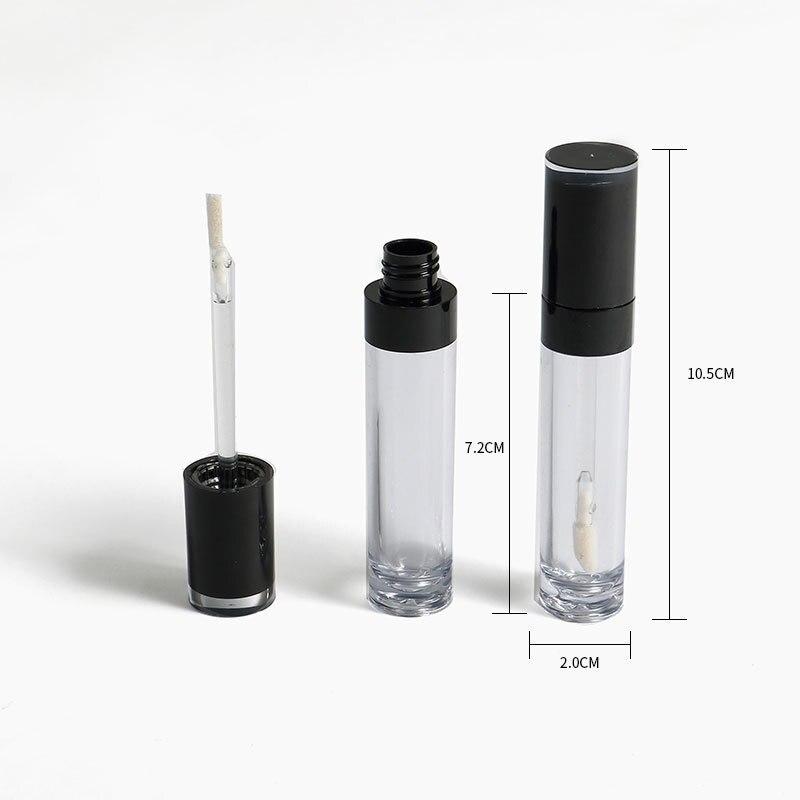 Injection plastique vide tube 25/50pcs en plastique brillant à lèvres à lèvres rond glaçure tube glaze lip emballage