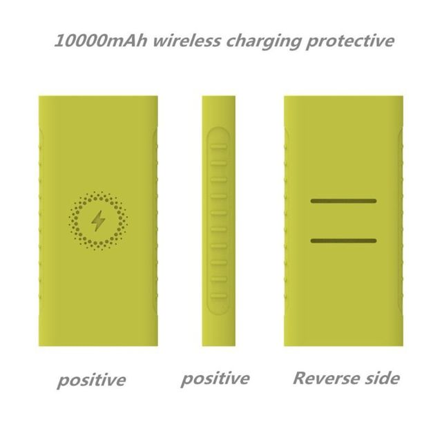 New Silicone Protector Case For xiao mi powerbank 10000mAh PLM11ZM Wireless Powerbank Accessories Case WPB15ZM and PLM13ZM Case 2
