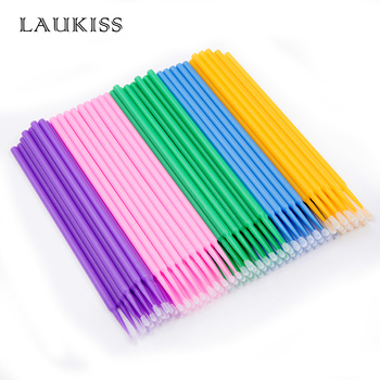 500pcs/lot Micro Brushes Make Up Eyelash Extension Disposable Eye Lash Glue Cleaning Brushes Free Applicator Sticks Makeup Tools