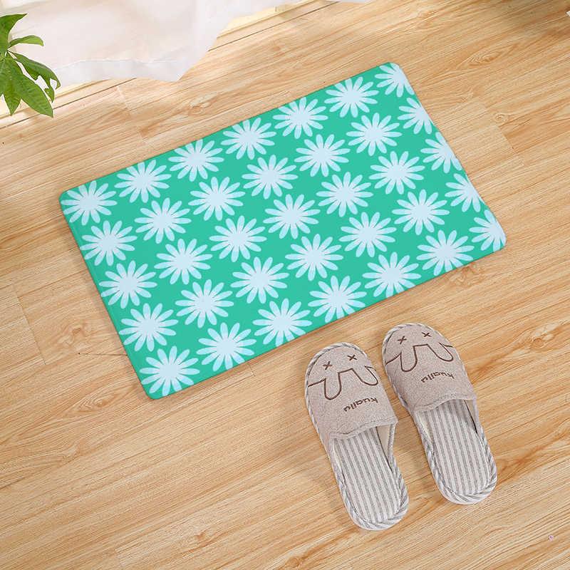 Цветочный комбинированный узор принт домашний коврик для кухни Нескользящие коврики для ванной кровать передние маты коврик на кухню