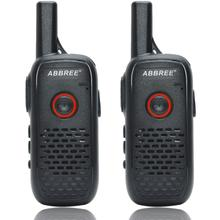 2PCS ABBREE AR Q2 Professional Handy mini Walkie Talkie VOX Mini Carga USB UHF Transceptor de Rádio Em Dois Sentidos Comunicador Woki toki