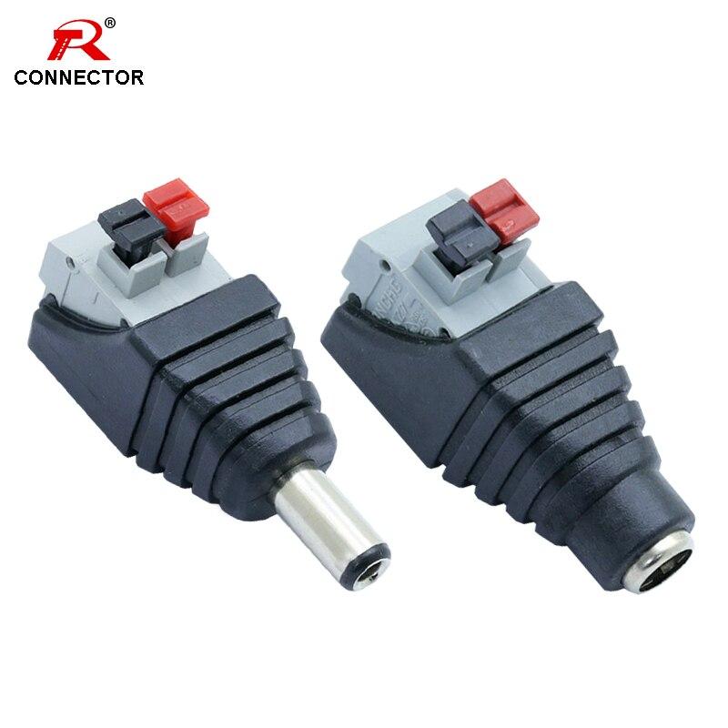 4 pièces 5.5x2.5mm connecteur d'alimentation cc, prise mâle et prise femelle