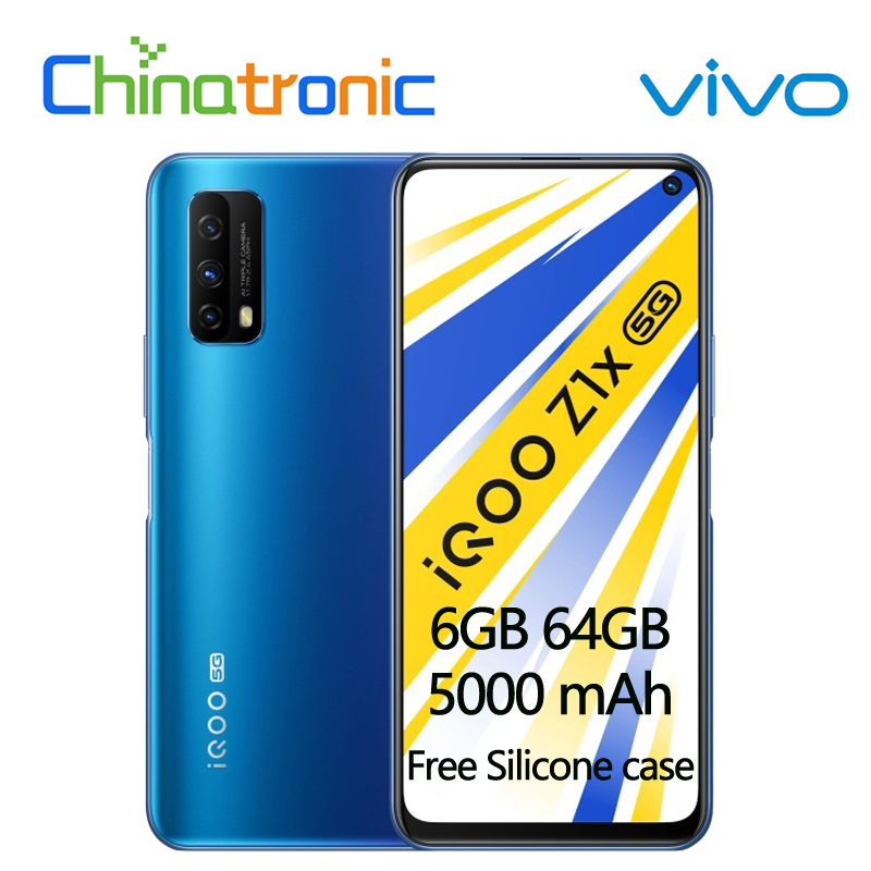Original vivo iqoo z1x 6gb 64gb 5g telefone móvel snapdragon 765g núcleo octa 6.57