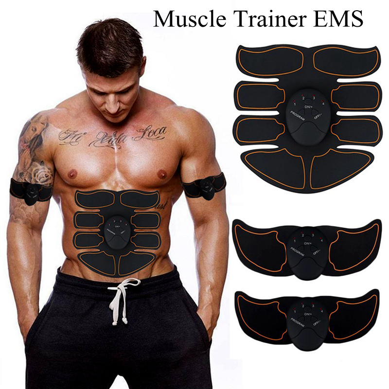Muscle massage Electro abdos EMS ABS Stimulator Abdominal muscle trainer Apparatus Toning Belt Workout Fitness Body for Arm image