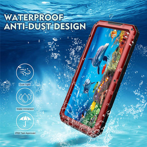 Image 3 - Luxury Metal Aluminum IP68 Waterproof Phone Case for iPhone SE 2 11 Pro Max XR X 6 6S 7 8 Plus XS Max Shockproof Dustproof Cover