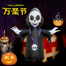 Hallooween Decorations Horror Props 120cm Giant Halloween Inflatable Toys Outdoor Yard Decoration Ghost Halloween Party Supplies hot sale giant horror bending inflatable halloween skull hanging head skeleton for party decoration page 8 page 3
