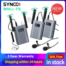 SYNCO WMic TS UHF Wireless Transmitter System Microphone Dual Channel Lapel Mic for Smartphone Camera Studio Video Recording