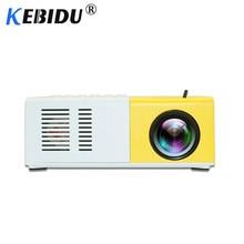Kebidu J9 YG 300 Portable Mini Projector 1080P Support 1080P AV USB SD Card USB Mini Home Projector Portable Pocket Beamer