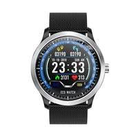 2019 Hot Sale Smart Waterproof ECG Heart Rate Sleep Watch Sport Pedometer Call Message Reminder Bracelet Band for Men -