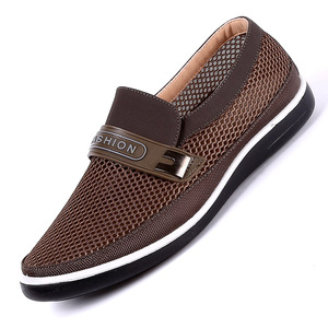 Image 5 - 2019 New MenS Casual Shoes Men Summer Style Mesh Flats For Men Loafer Creepers Casual High End  Shoes Very Comfortable