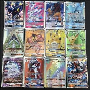 Image 2 - 25/50/100pcs karty do gry Trading Pokemones gra karciana karta kolekcjonerska angielska wersja Battle Carte Kids Toys