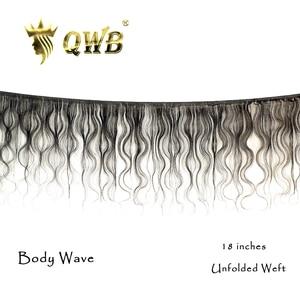 Image 3 - Qwb送料無料実体波 3 バンドル/ロット 12 〜 28 プロ比ブラジルバージン自然色 100% 人毛エクステンション