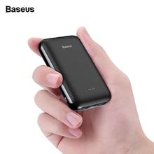 Baseus 10000 mAh мини-панель солнечных батарей Мощность банка маленькая Портативный Зарядное устройство 10000 мА/ч, Мощность Bank зарядное устройство для iPhone Xiaomi samsung внешний Батарея повербанк