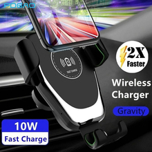 FDGAO 10W Qi Wireless Car Charger For iPhone XS Max XR 8 Plus Car Mount Fast Charging Phone Holder for Samsung S10 S9 S8 Note 9