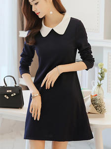 New Female Dress Woman Casual Loose Elegant Dress Business Office Slim Dress