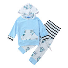 Pants-Set Clothing Baby-Boys Casual Cotton Print with Hat Autumn Winter Long-Sleeve Outfits